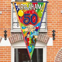 Abraham mega puntvlag 90 x 150 cm lengte