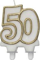 Leeftijdkaars goud '50'