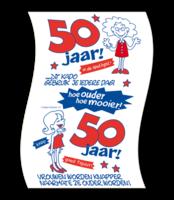 Toiletpapier rol met opdruk 50 vrouw