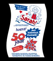 Toiletpapier rol met opdruk Sarah