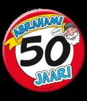 Mega button Abraham Ø 10 cm