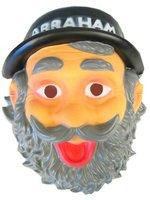 Abraham masker met hoedje en opdruk plastic