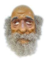 Abraham plastic masker met baard grijs