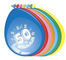 Ballonnen 'Sarah 50' 8 stuks