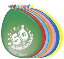 Ballonnen 'Abraham 50' 8 stuks