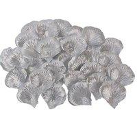 Luxe rozenblaadjes zilverkleurig 144 stuks