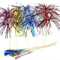 IJsprikkers lang met folie waaier div. kleuren 6 stuks