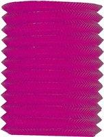 Lampion effen roze 16 cm lengte