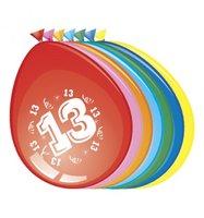 Ballonnen 13 jaar 8 stuks