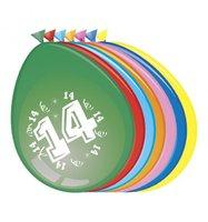 Ballonnen 14 jaar 8 stuks