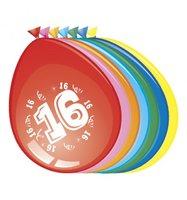 Ballonnen rond 8 stuks opdruk '16'