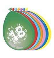 Ballonnen 18 jaar 8 stuks