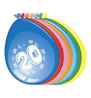 Ballonnen 20 jaar 8 stuks