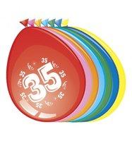 Ballonnen 35 jaar 8 stuks