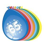 Ballonnen 65 jaar 8 stuks