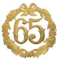 Hulde deco lauwerkrans  goud 65