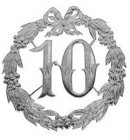 Hulde deco lauwerkrans zilver 10