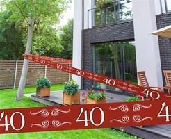Afzetlint Robijn '40' 15 meter