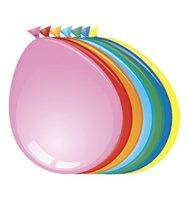 Ballonnen rond, assorti gekleurd zonder opdruk 10 stuks