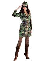 Army girl, jurk met schuitje.