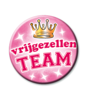 Button Roze 'Vrijgezellen Team'
