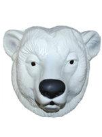 Masker ijsbeer volwassen plastic
