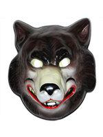 Masker wolf volwassen plastic
