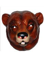 Masker bruine beer volwassen plastic