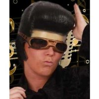 Elvis schedel rubber met bril