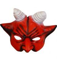 Rubber half-masker Duivel