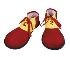 Clownschoenen rubber rood geel