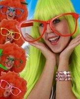 Bril plastic maxi zonder glas assorti kleuren