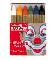 6 Schminkstiften basis kleuren