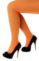 Netpanty fijne maas oranje one size