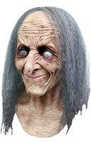 Ghoulish Masker Oude Heks Hagatha Met Grijs Haar