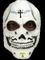 Gezichtsmasker rubber Catrin schedel wit