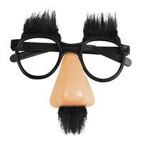 Partybril slapstick met wenkbrauwen, neus en snor