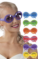 Party bril Jacky neon assorti kleuren