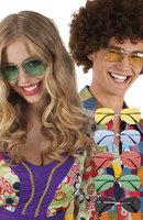 Bril retro met gekleurde glazen in assorti kleuren