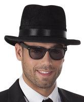 Blues Brother bril zwart montuur en donkere glazen