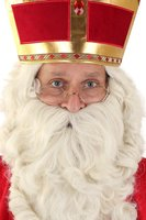 Sinterklaas leesbrilletje goud met blank glas
