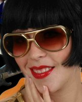 Elvis Presley zonnebril goud luxe