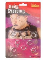 Set piercings 8 stuks assorti