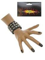 Punk Armband drie dubbele rij verstelbaar