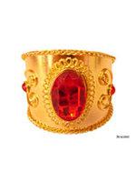 Gouden armband rode steen