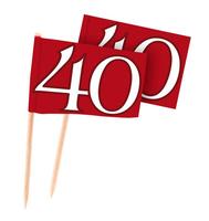 Cocktailprikkers 40 jaar robijn 50 stuks