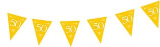 Vlaggenlijn 50 goudkleurig 10 mtr