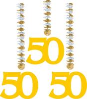 3 rotorspiralen goud '50'