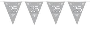 Vlaggenlijn 25 zilver 10 mtr