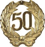 Hulde deco lauwerkrans 50 jaar goud